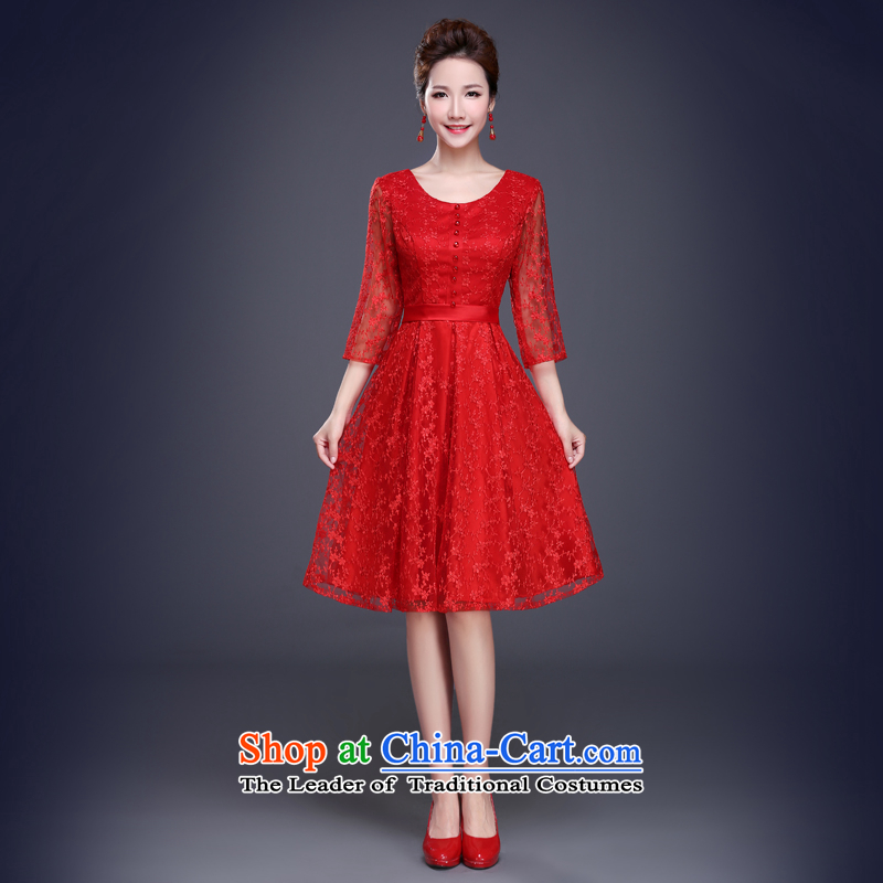 Jie mija bows services 2015 new summer wedding dresses red dress marriages champagne color bridesmaid service banquet RED?M
