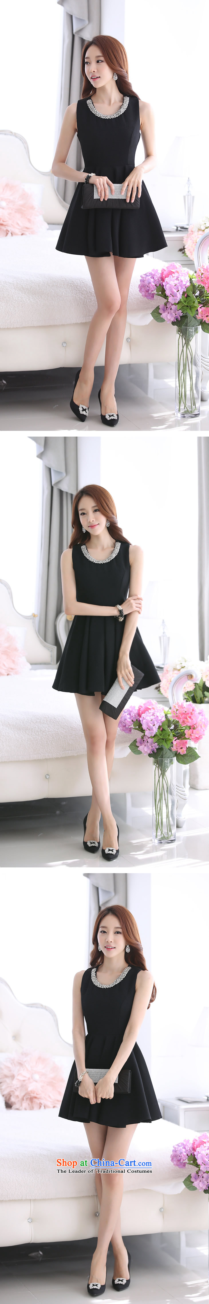 2015 summer season bird new Korean Ladies of Sau San video thin sleeveless jacket large bon bon dress dresses L1015 female blackXL Photo, prices, brand platters! The elections are supplied in the national character of distribution, so action, buy now enjoy more preferential! As soon as possible.