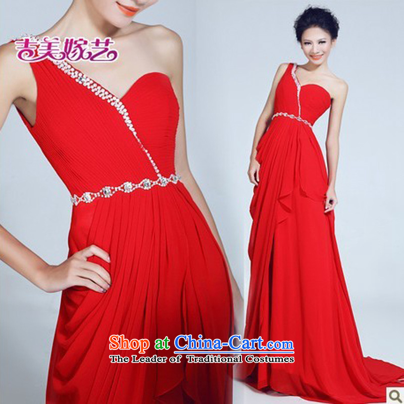 Wedding dress Kyrgyz-american married arts shoulder the new 2015 Korean bridal dresses tail LT6033 bridal dresses redS
