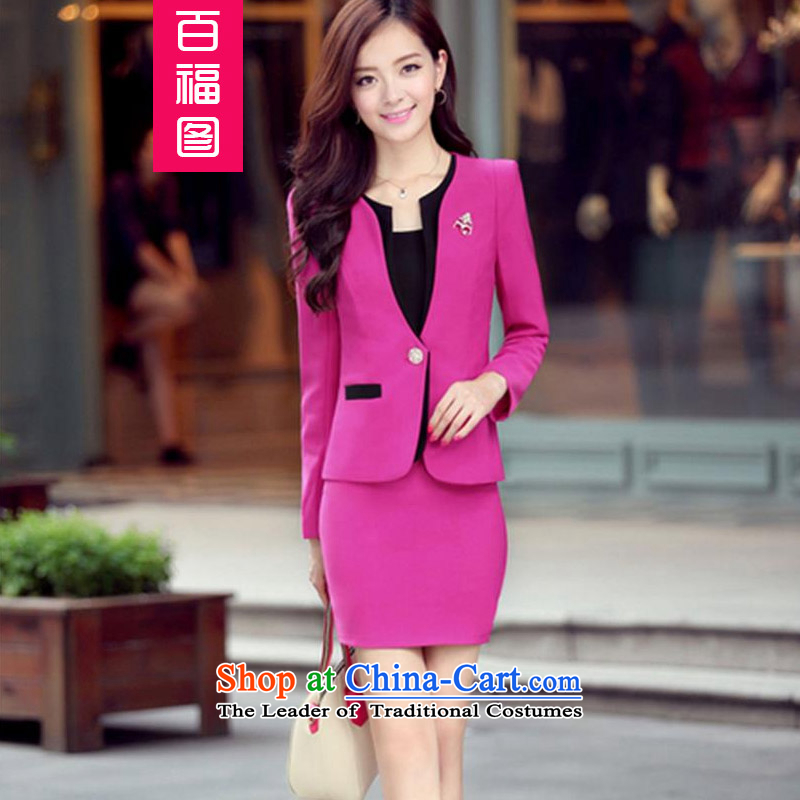 Pak Fuk figure in spring and autumn 2015 the new working dress suit small two sets of Sau San skirt OL Vocational kits of red�XL