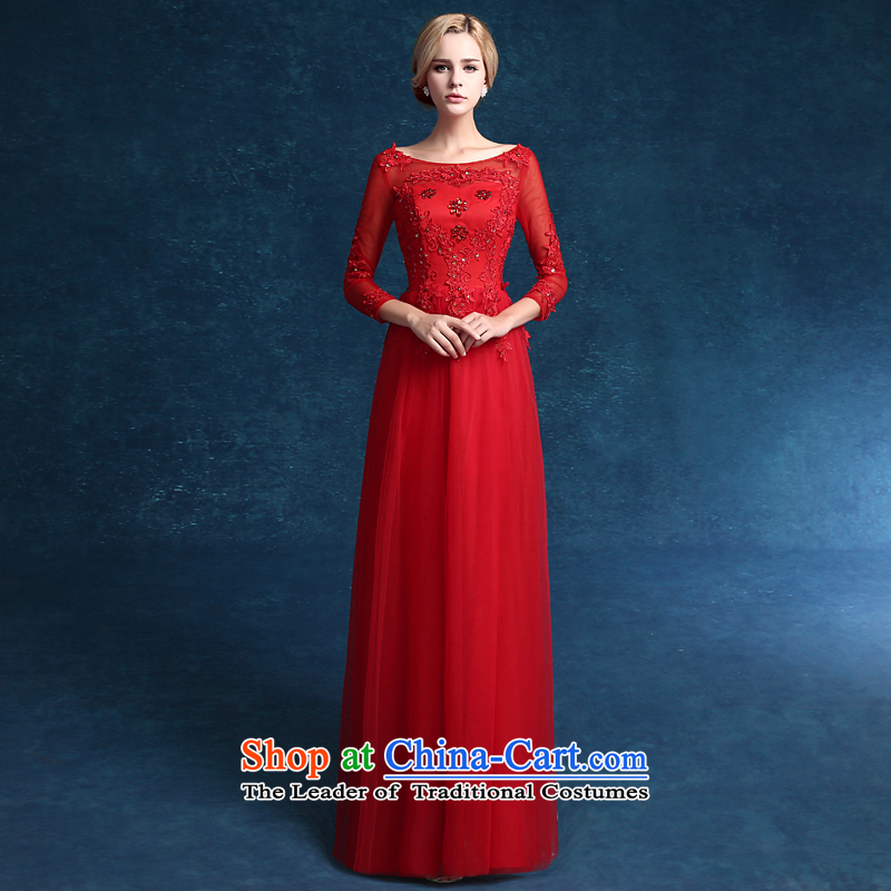 Each original Connie 2015 new wedding dresses red dress long large marriages in summer clothing cuff bows long red tailored does not allow