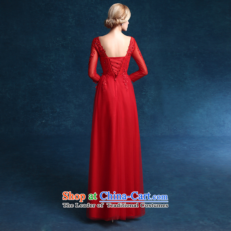 Each original Connie 2015 new wedding dresses red dress long large marriages in summer clothing cuff bows long red tailored, does not allow for every JIAONI stephanie () , , , shopping on the Internet