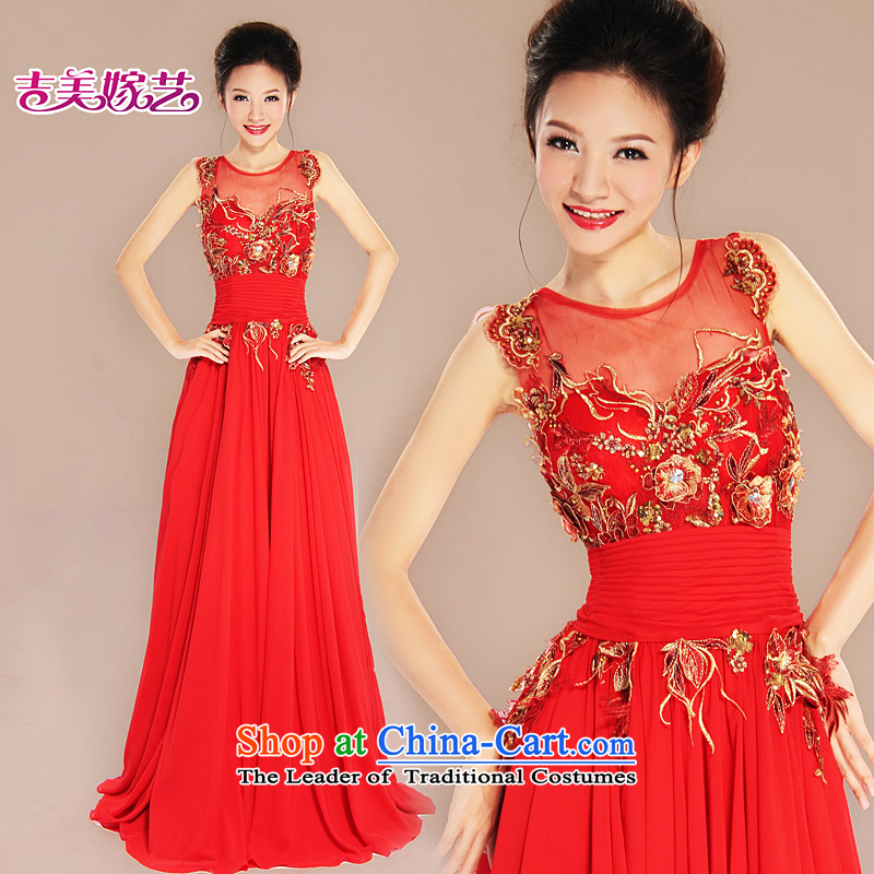 Wedding dress Kyrgyz-american married arts 2015 New 2 Korean bridal dresses shoulder LS7033 bridal dresses Sau San Red?6#