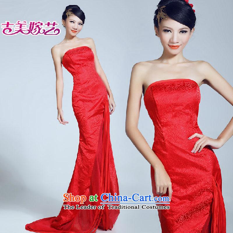 Wedding dress Kyrgyz-american married arts new video   2015 thin tail dress LT6030 bride dress redXL