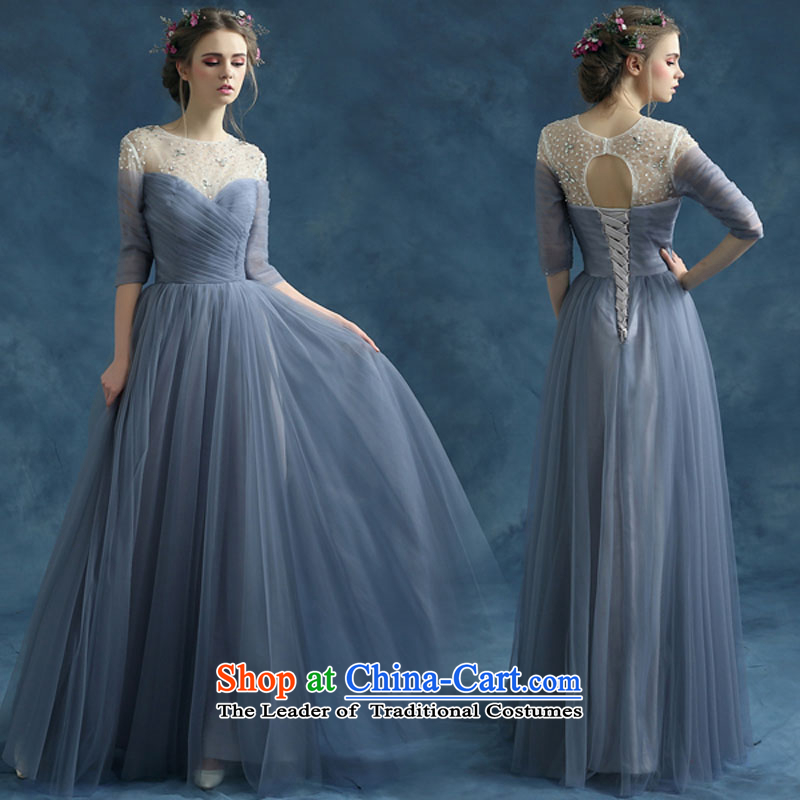 Evening dress new summer 2015 short, banquet dresses dress girl brides bows to marry a stylish shoulder gray?XXXL field