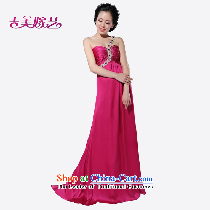 Wedding dress Kyrgyz-american married arts shoulder the new 2015 Korean tail evening dress in red 692 bride dress?4#