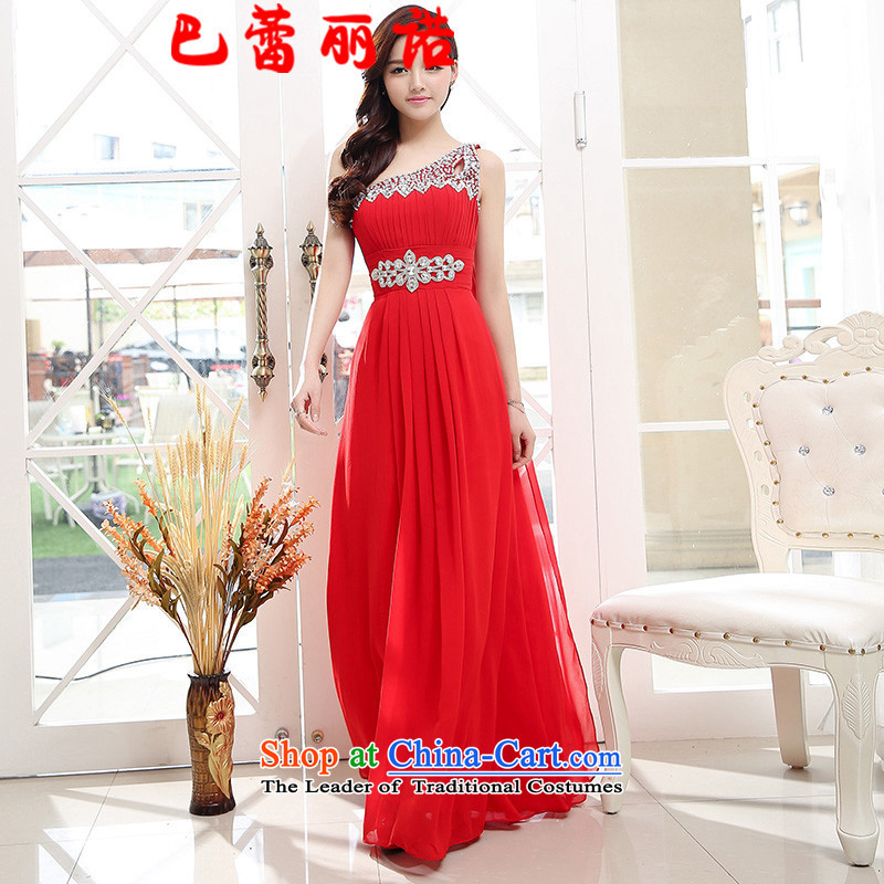 The buds of 2015 New Lai temperament elegant dress skirt summer nail pearl embroidery Toastmaster of clothing long bride services large red bows?S