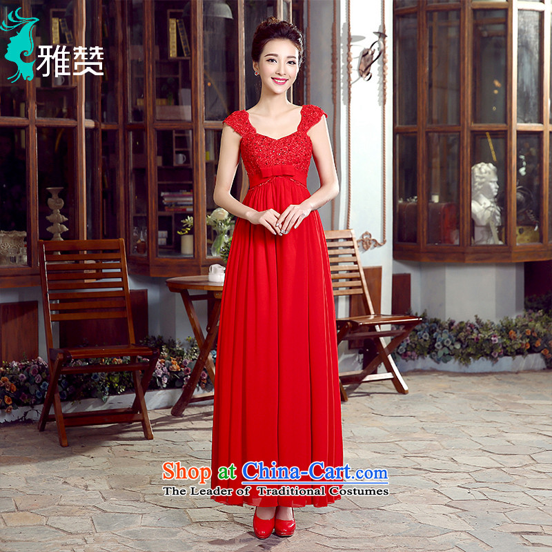 Jacob Chan pregnant women serving high loins length bows, bridal wedding dress 2015 Spring_Summer new shoulders lace bow tie large red?XXL
