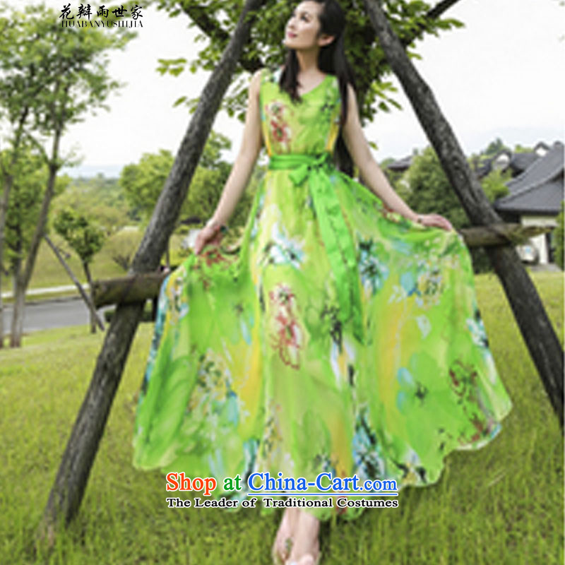 The introduction of women into rain petals skirt the skirt long skirt 339320550 complaints green�M