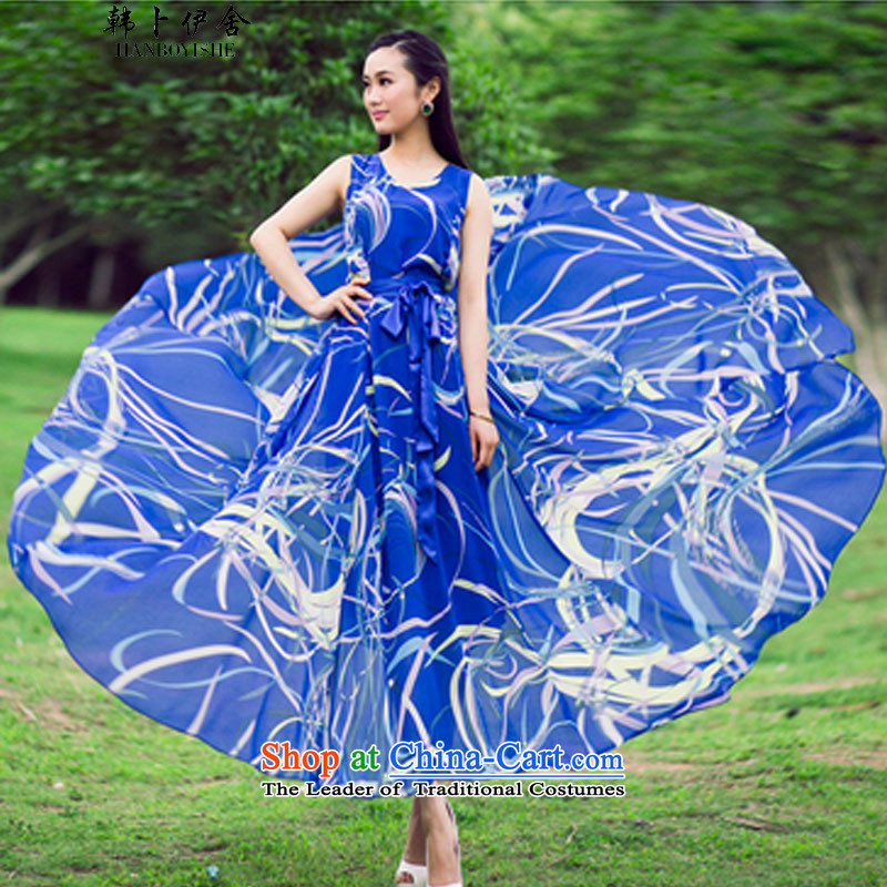 Korea also esher? fragmented female skirt dresses skirts and 339320550 Blue?M
