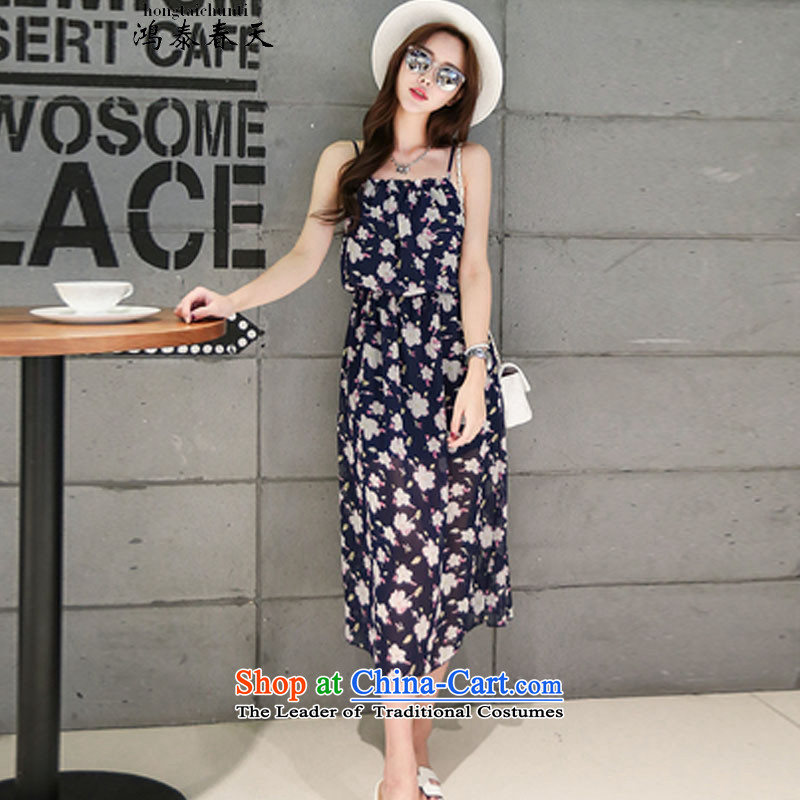 Hong Tai spring? �� Xia Xue woven strap billowy flounces stamp Bohemia long skirt skirt and 425510232 Beach 3?L