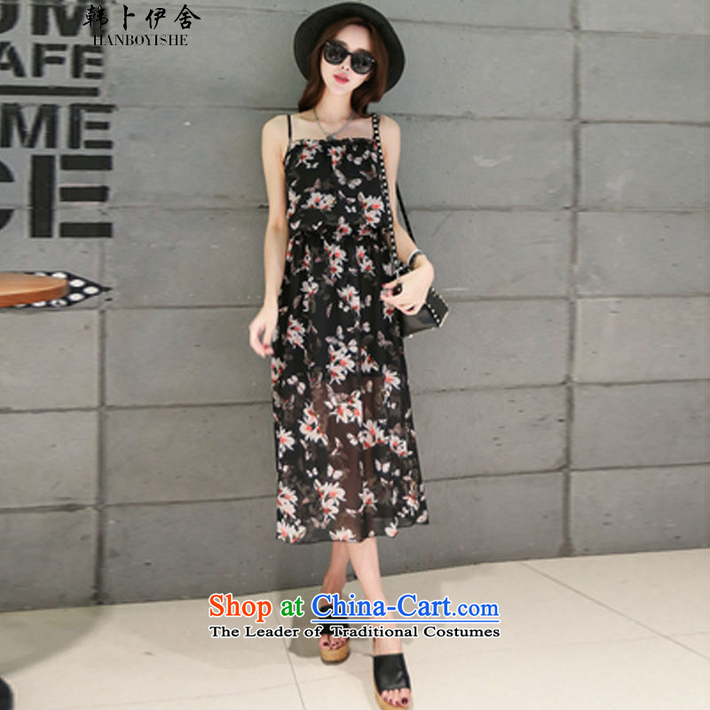 Korea Pu esher? fragmented Xia Xue woven strap billowy flounces stamp Bohemia long skirt skirt and 425510232 Beach 1?M
