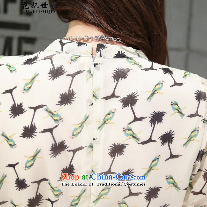 Take concubines and retro saika saga collar chiffon dresses small saika large short-sleeved stamp skirt suits聽XL, flowers and 425510436 Saga (HUA FEI FEI SHI JIA) , , , shopping on the Internet