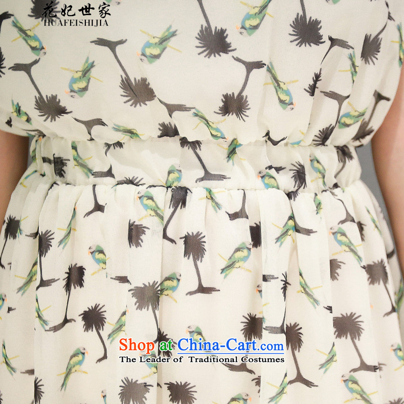 Take concubines and retro saika saga collar chiffon dresses small saika large short-sleeved stamp skirt suitsXL, flowers and 425510436 Saga (HUA FEI FEI SHI JIA) , , , shopping on the Internet