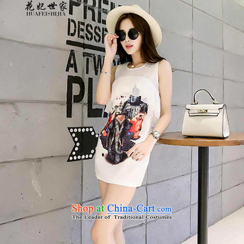 Take concubines and Korean saga billowy flounces dress summer female wild video thin vest skirt and white?L 425510730