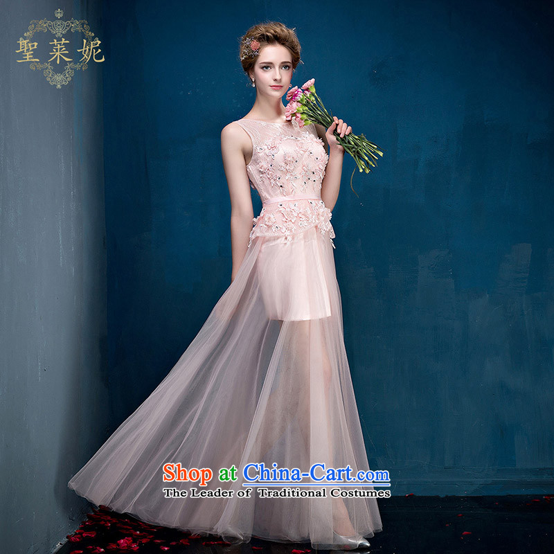 St Leger Connie 2015 summer and autumn flowers bridal dresses shoulders stylish large Ms. video thin dresses wedding dress pink?S