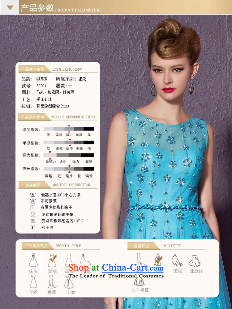 Creative Fox stylish shoulders banquet evening dresses evening drink service elegant long annual meeting of persons chairing the Sau San will dress red carpet dress 30901 blue聽XXL picture, prices, brand platters! The elections are supplied in the national character of distribution, so action, buy now enjoy more preferential! As soon as possible.