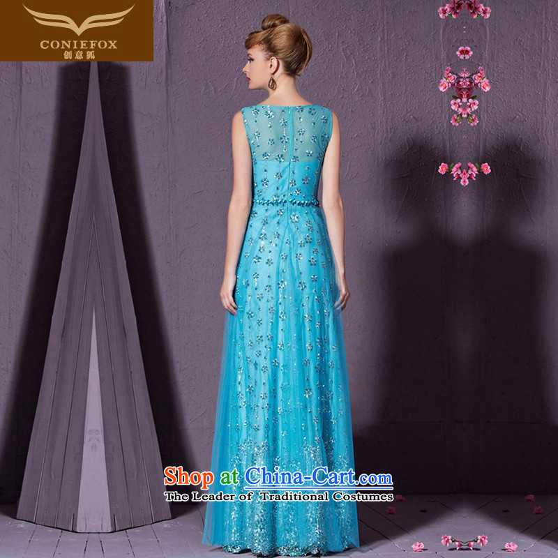 Creative Fox stylish shoulders banquet evening dresses evening drink service elegant long annual meeting of persons chairing the Sau San will dress red carpet dress 30901聽XXL, Blue Fox (coniefox creative) , , , shopping on the Internet