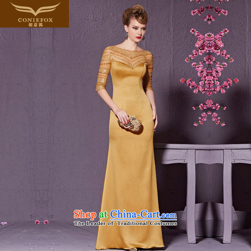 In Golden Fox cuff creative banquet evening dresses Sau San long marriages services under the auspices of the annual bows dress will bridesmaid dress 30915 Golden?XL