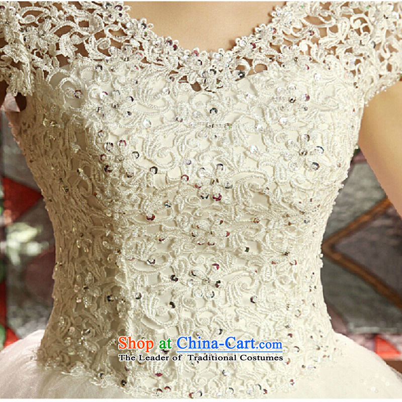 Evening dress new summer 2015 short, banquet dresses dress girl brides bows to marry a stylish field shoulder White?XXL