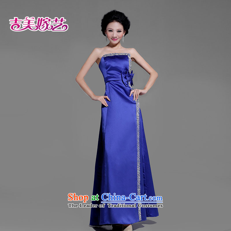 The Korean version of luxury bride wedding dress * blue spatula chest bow tie dress *LS207 bride dress blue�XL
