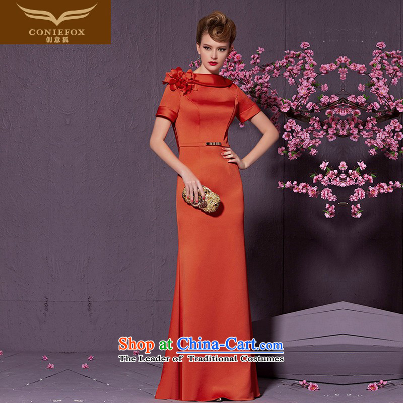 Creative Fox stylish and elegant banquet dress long marriages bows services video thin foutune bridesmaid dress suit will preside over 30925 in red?L