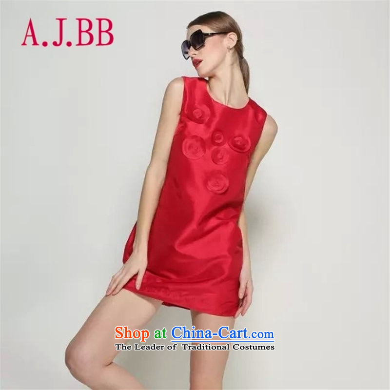 Vpro only dress stylish decals dresses red bows dress round-neck collar back door skirts bride vest 547 627 18 368 10 297 RED?M