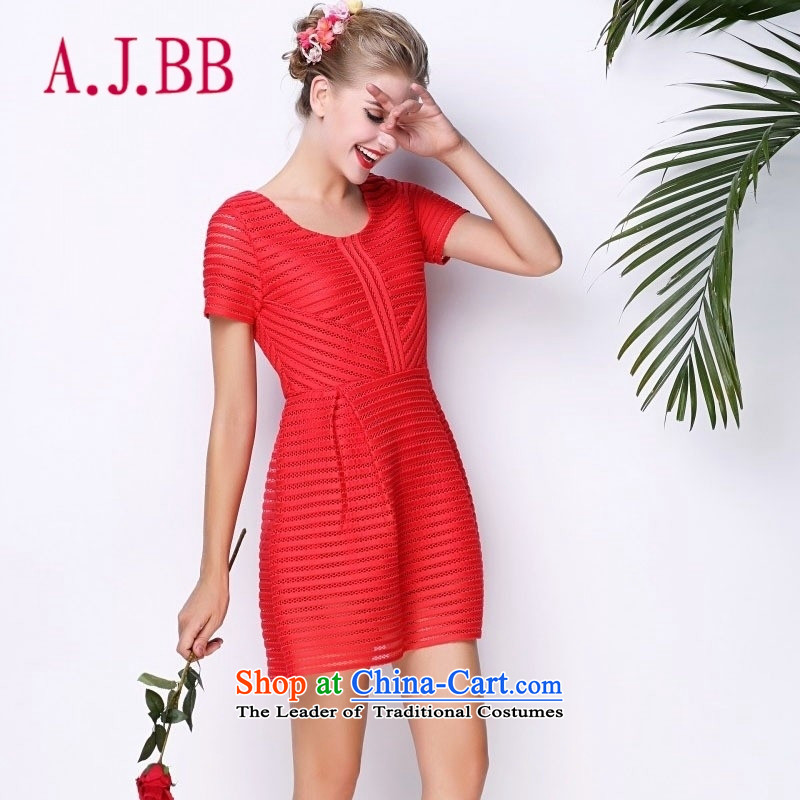 Vpro only new dress red bride bows dress marriage the lift mast to Sau San short-sleeved dresses 2178a RED�M