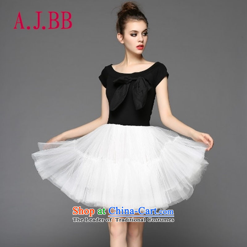 Vpro only dress 2015 stylish black-and-white petticoat bon bon bridesmaid small dress performances dress dresses 0887 Black and White?S