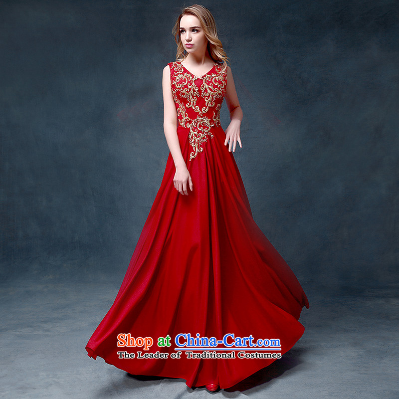 According to Lin Sha 2015 new bride services stylish bridal dresses drink red wedding dress evening dress long crowsfoot Sau San red tailored consulting customer service