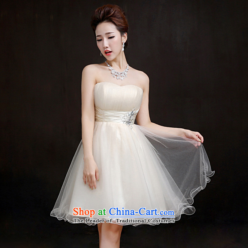 According to Lin Sha 2015 new bridesmaid services marriages wedding dress bridesmaid mission small dress sister skirt bon bon skirt?S