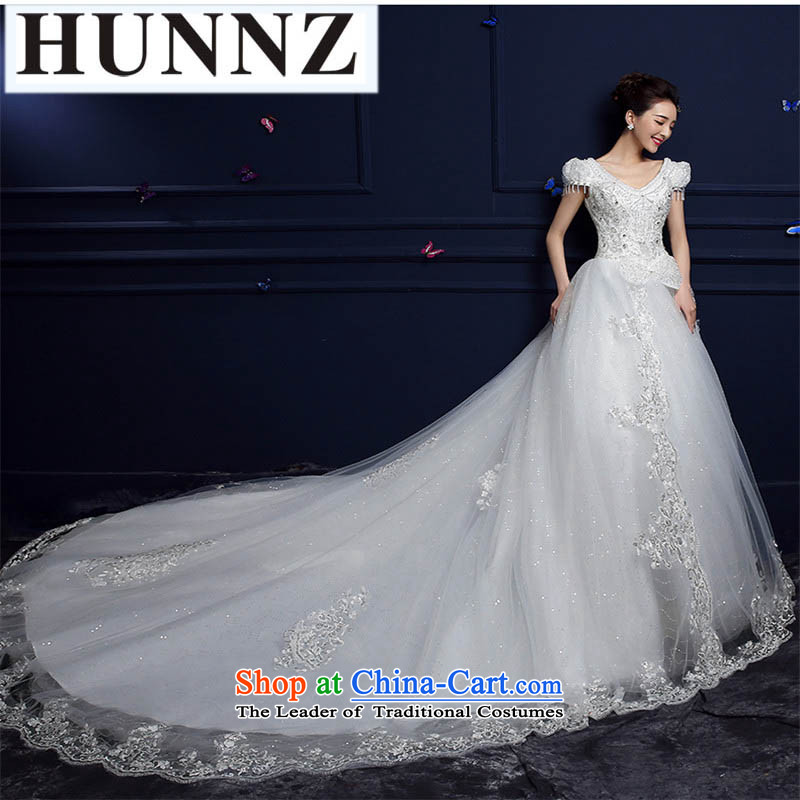 Name of the new 2015 HUNNZ spring noble and elegant bride large Summer Wedding trailing white streak of?S