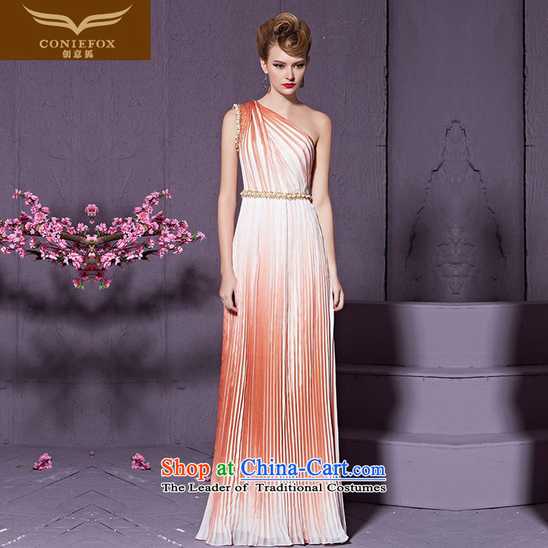 Creative Fashion shoulder dresses fox banquet nail pearl evening drink service bridal wedding dress long bridesmaid dress skirts Sau San wedding services 82206 color pictures courtesy S
