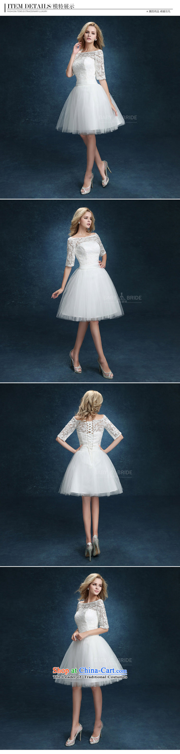 Bridesmaid Services 2015 new lace booking wedding-dress married women serving short of bows banquet dinner dress white White XXL pictures, Summer Price, brand platters! The elections are supplied in the national character of distribution, so action, buy now enjoy more preferential! As soon as possible.