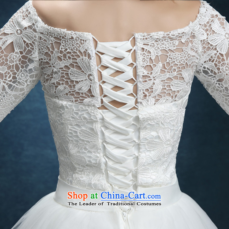 Bridesmaid Services 2015 new lace booking wedding-dress married women serving short of bows banquet dinner dress white summer XXL, white baby Bride (BABY BPIDEB) , , , shopping on the Internet