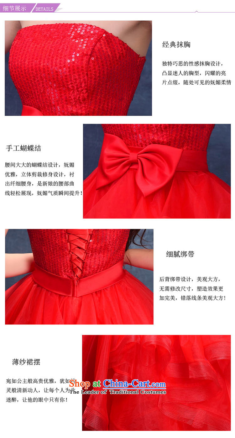 2015 Summer new anointed chest bridesmaid Dress Short of straps bride bows wedding dresses services small princess evening dress RED聽M picture, prices, brand platters! The elections are supplied in the national character of distribution, so action, buy now enjoy more preferential! As soon as possible.
