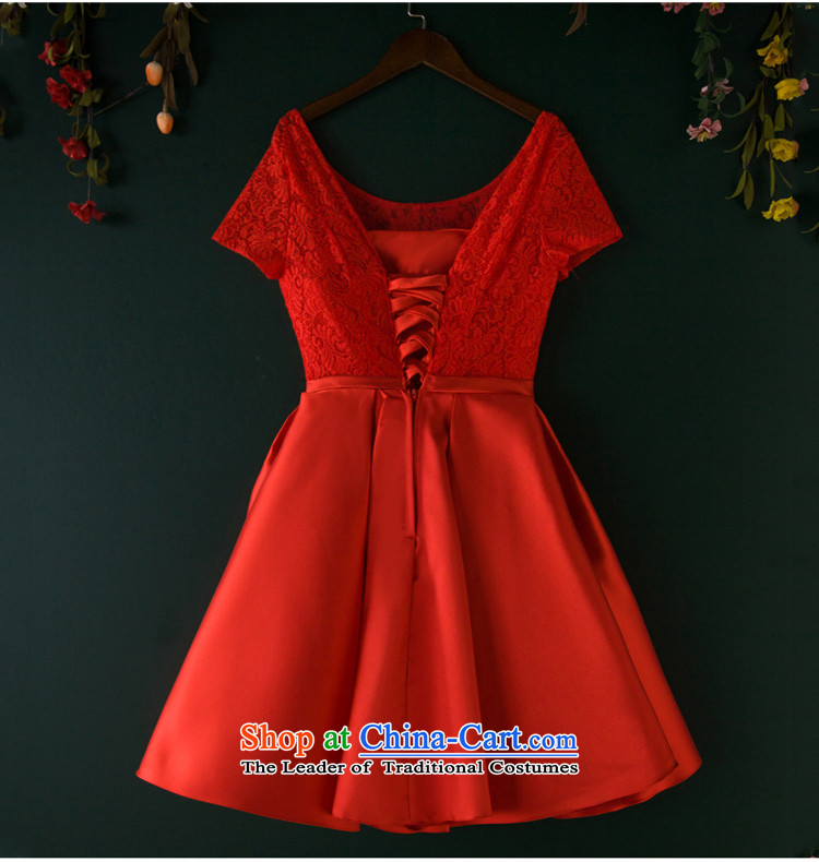 Wedding dress bride bows services banquet evening dresses 2015 new bridesmaid services red short-sleeved short summer evening, Red M picture, prices, brand platters! The elections are supplied in the national character of distribution, so action, buy now enjoy more preferential! As soon as possible.