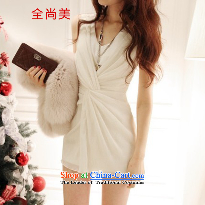 Jeon Sang-us new Yi Package 2015 Sau San dress small dress and bridesmaid package skirt tight sexy dresses A2154 white�L