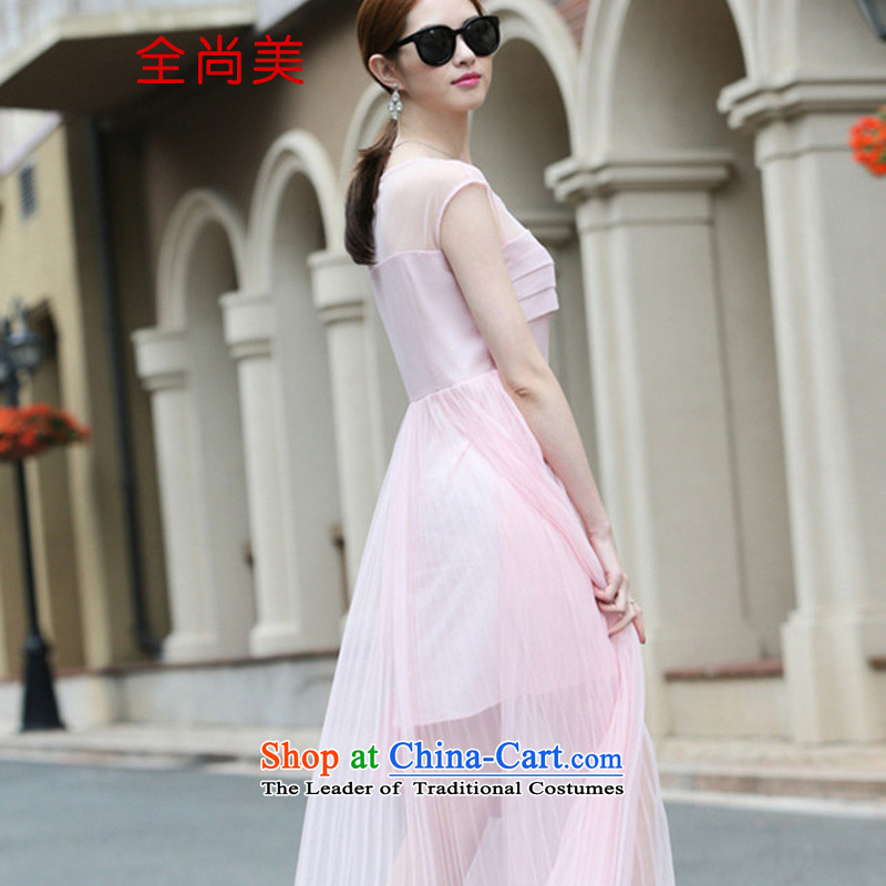 Jeon Sang-spring and summer 2015 Sau San like Susy Nagle temperament long skirt) bridesmaid small dress fairies dresses A2154 pink�S