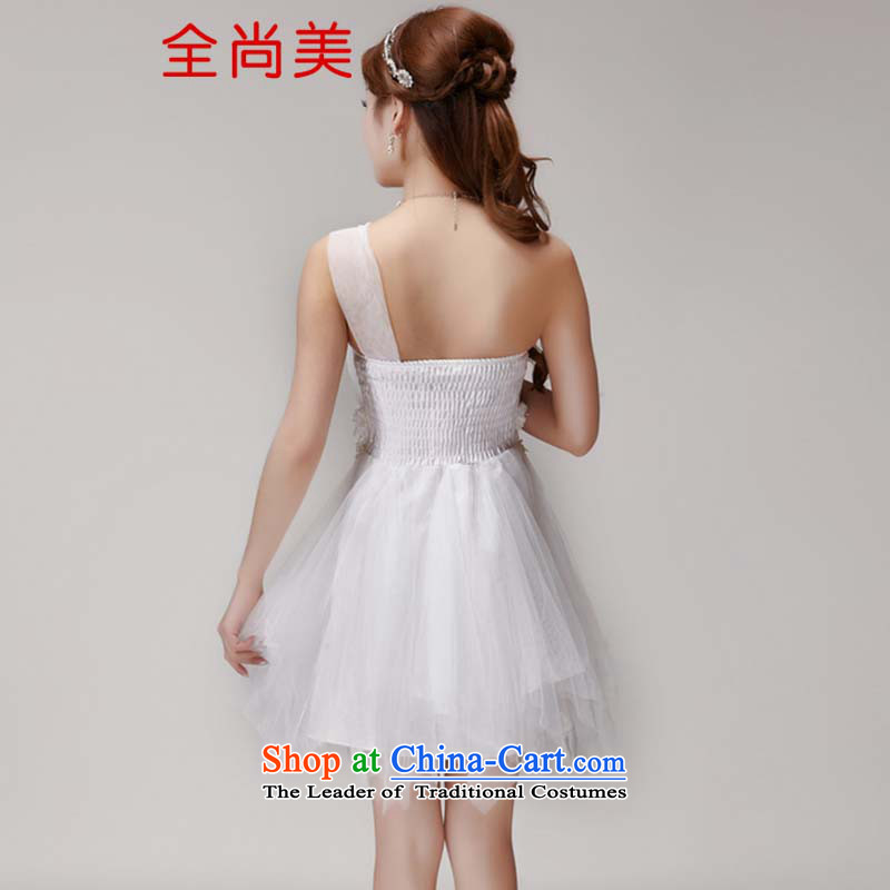 Full-Sang-mi bridesmaid services 2015 new bridesmaid mission dress evening dresses and sisters skirts banquet short, small summer gown A2145 White M, Jeon Sang-mi (QUANSHANGMEI) , , , shopping on the Internet