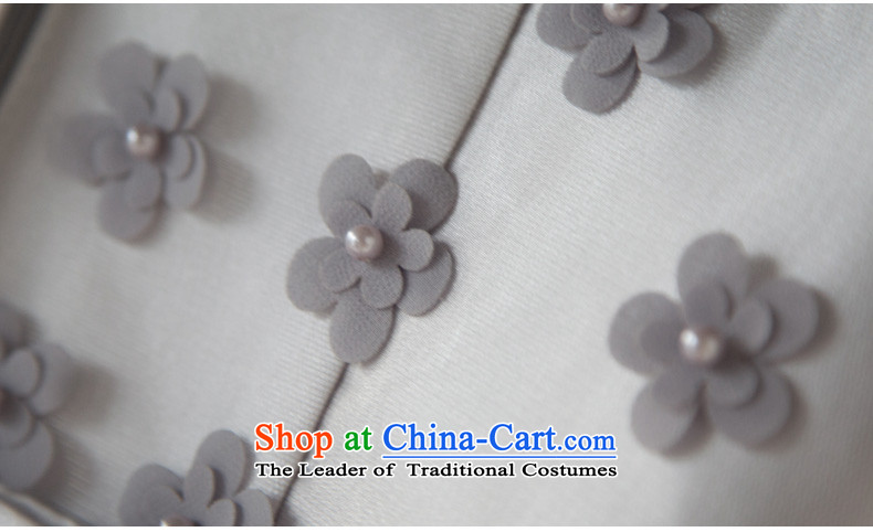 Wedding dress 2015 new bride Summer Wedding dress bows to Sau San long evening banquet dinner dress skirt gray color M brand, prices, picture platters! The elections are supplied in the national character of distribution, so action, buy now enjoy more preferential! As soon as possible.