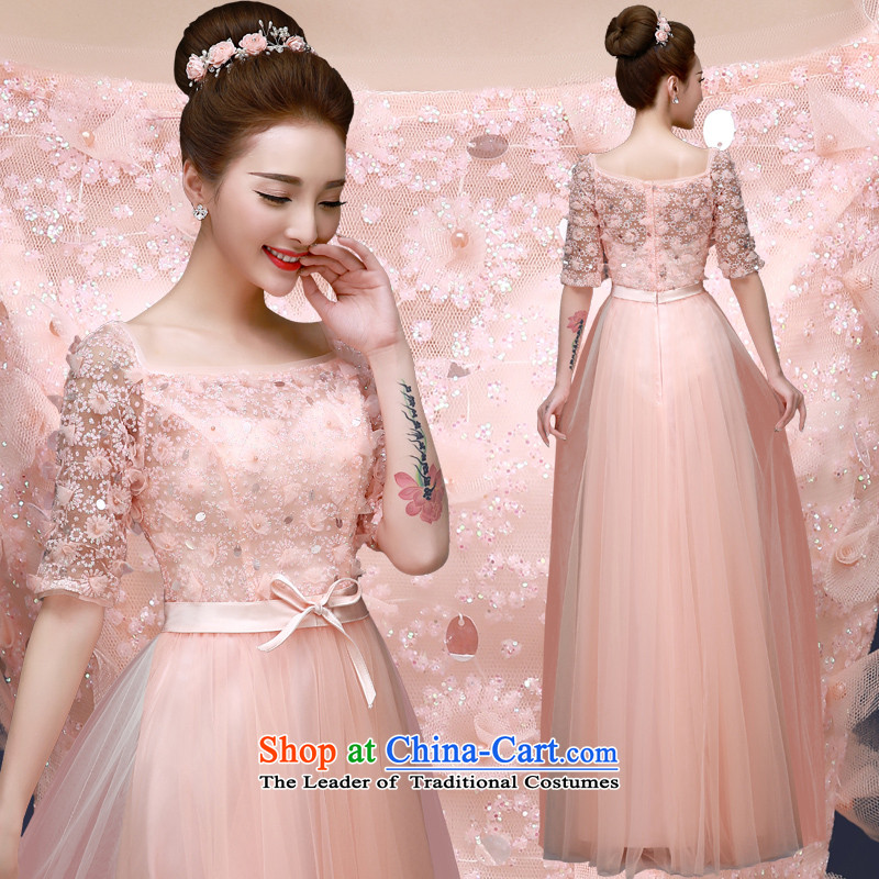 The privilege of serving-leung 2015 annual meeting of the new protocol moderator evening dresses bride marriage ceremony of stylish long bows services Pink 2XL