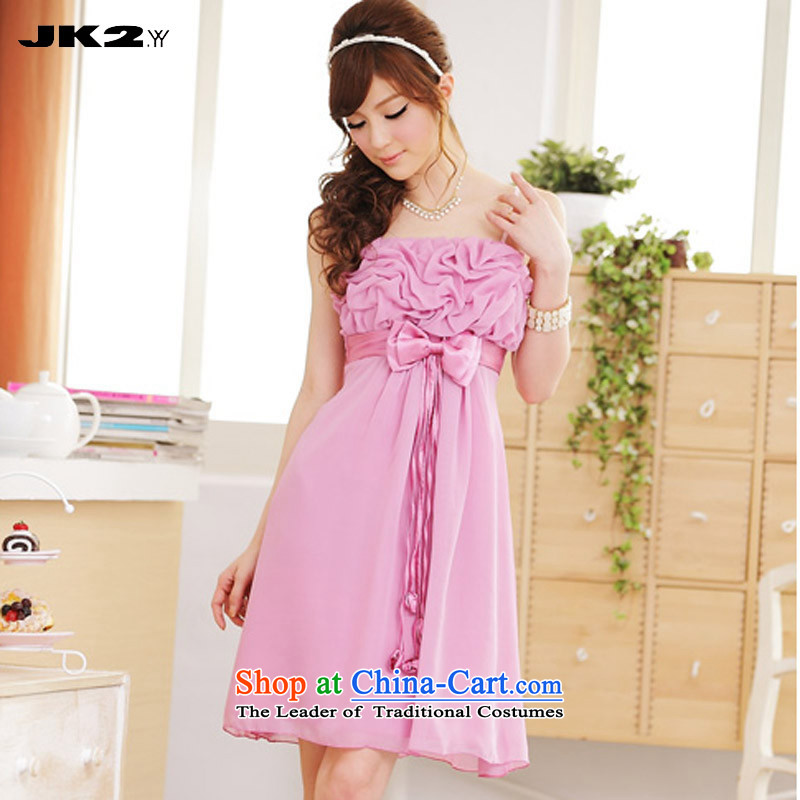 2015 Summer Jk2.yy romantic and elegant chiffon strap dresses larger bridesmaid service of daily dress code recommendations pink are about 100