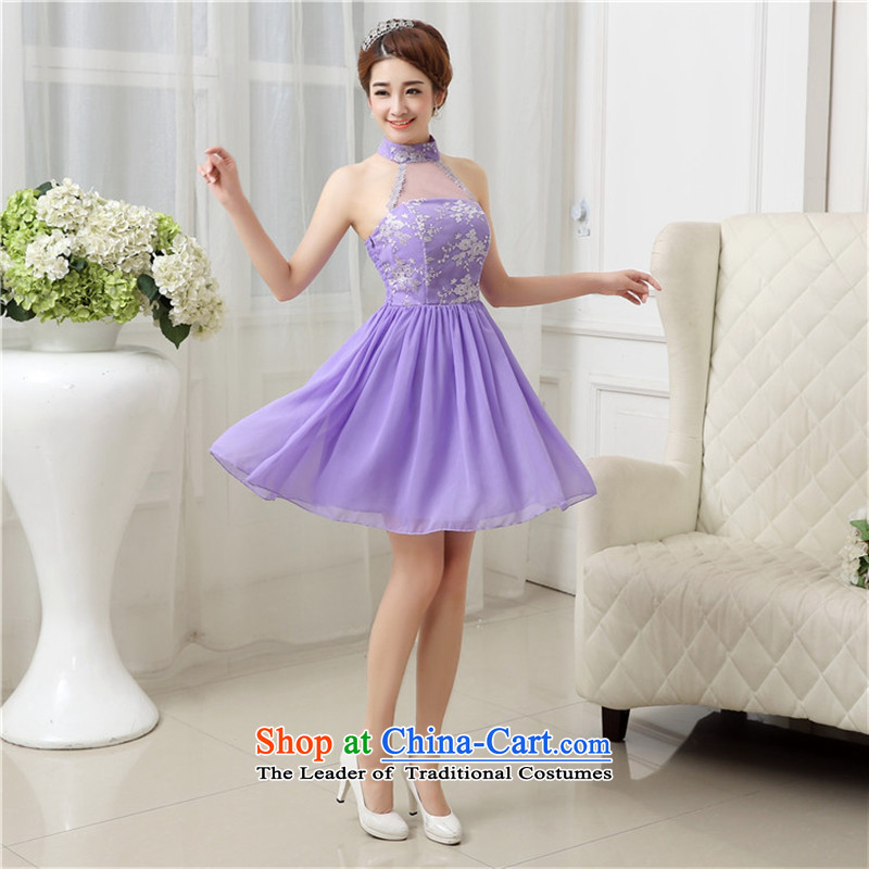 Mano-hwan's 2015 new hang also bridesmaid Dress Short of Korean bridesmaid services bridesmaid mission annual service performances marriage dress uniform shoulders champagne color are code