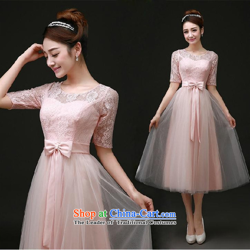 Mano-hwan's bridesmaid Service, Mr Ronald bride bows services red bridesmaid mission sister skirt wedding dress video thin evening dresses champagne color聽M