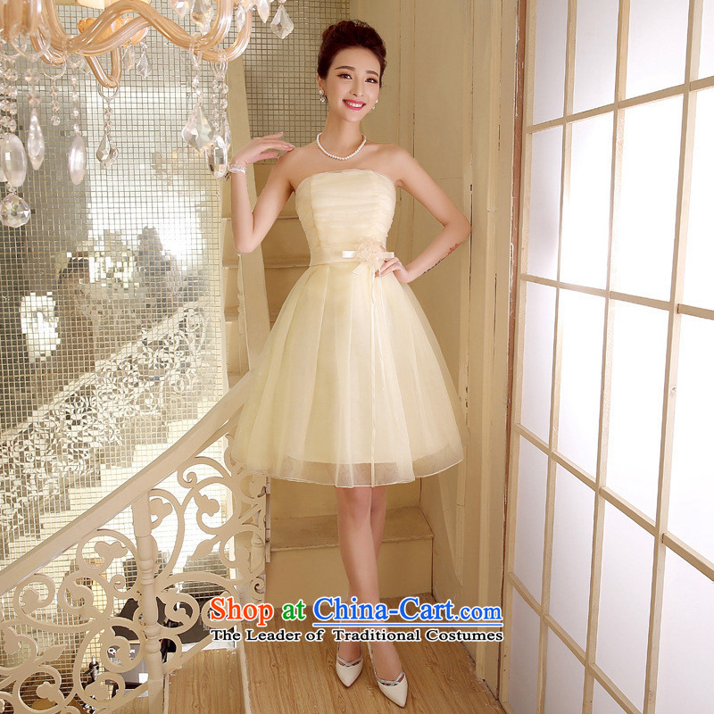 Mano-hwan, wipe the chest dress marriage under the auspices of performances bon bon skirts and chest bridesmaid wedding dresses summer short of white are code