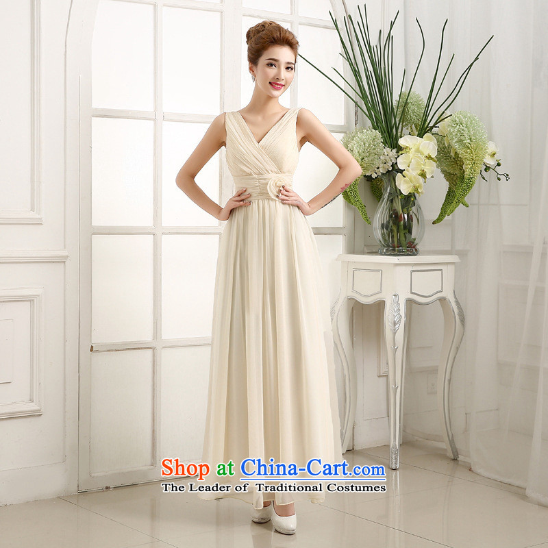 Mano-hwan's 2015 new marriages bows dress Top Loin shoulders v-neck bridesmaid dress long evening dress code are green