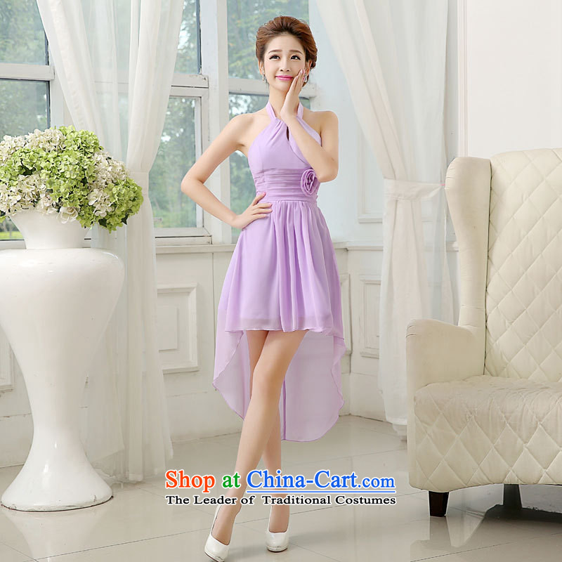 Mano-hwan's bridesmaid dress uniform tail of the bows 2015 New Show Services Yu Hsuan small dress code are blue skirt and Sisters