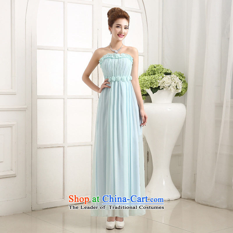 Mano-hwan won version long bridesmaid dress wiping the Chest dinner service bridal toasting champagne skirt services bridesmaid skirt new champagne color are code