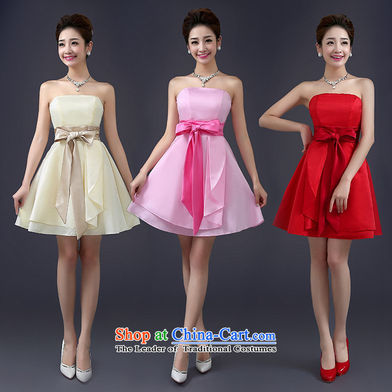 Mano-hwan, the chairpersons meeting performance small dress 2015 new bridesmaid service of the spring and summer evening dresses and sisters are pink dress code